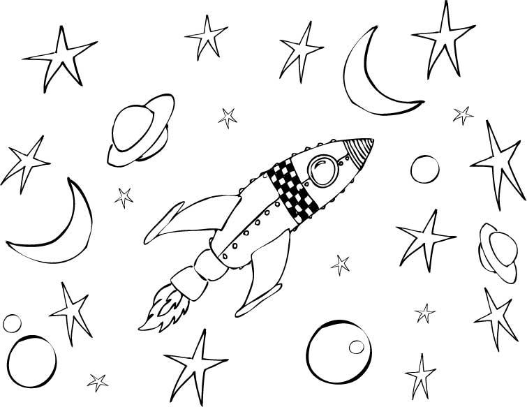 Space Scene Craft: 3…2…1….Blastoff!