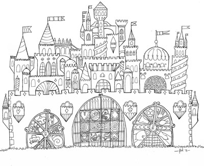 Free Printable Whimsical Castle Adult Coloring Page ...