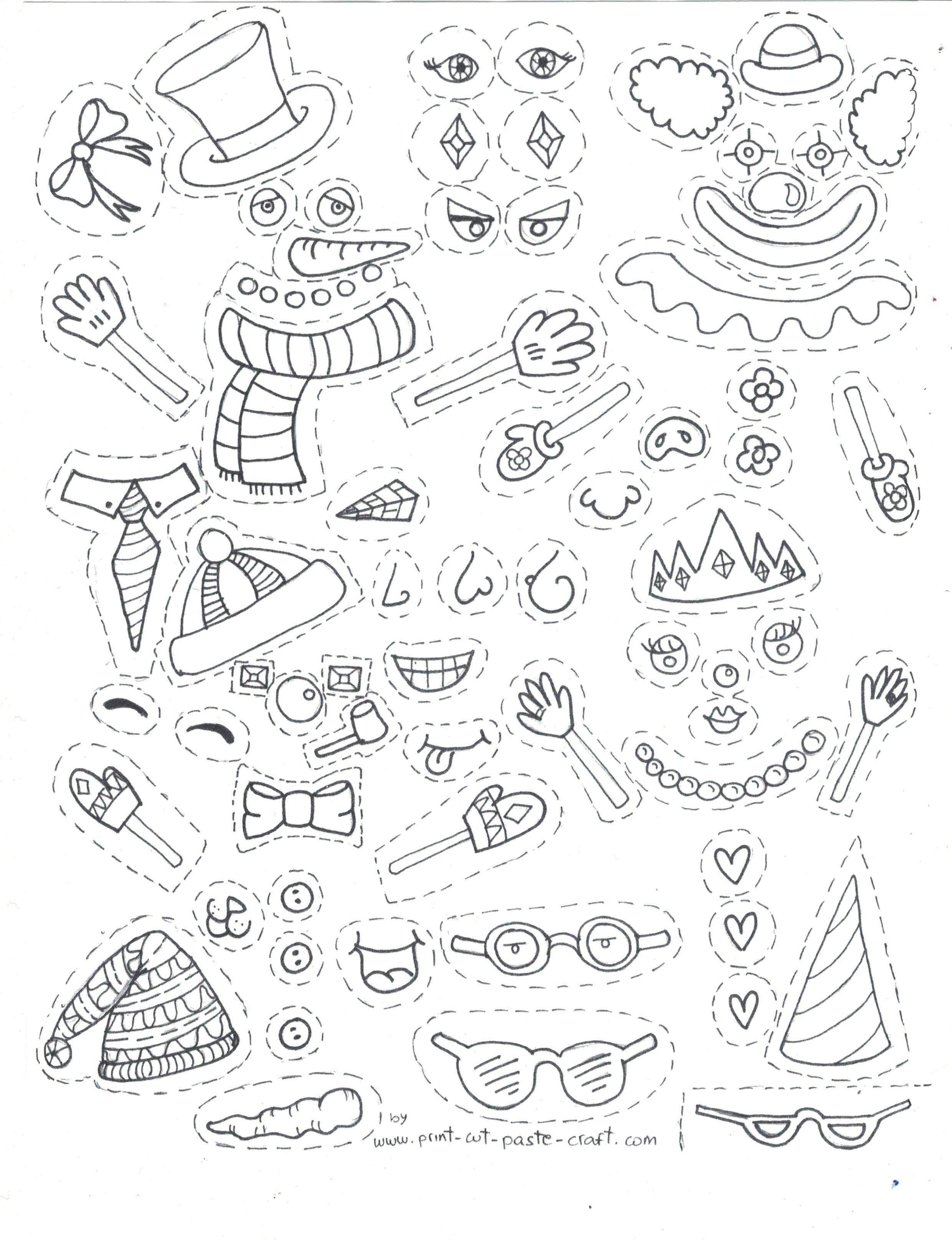 print cut paste craft blog archive free printable kids