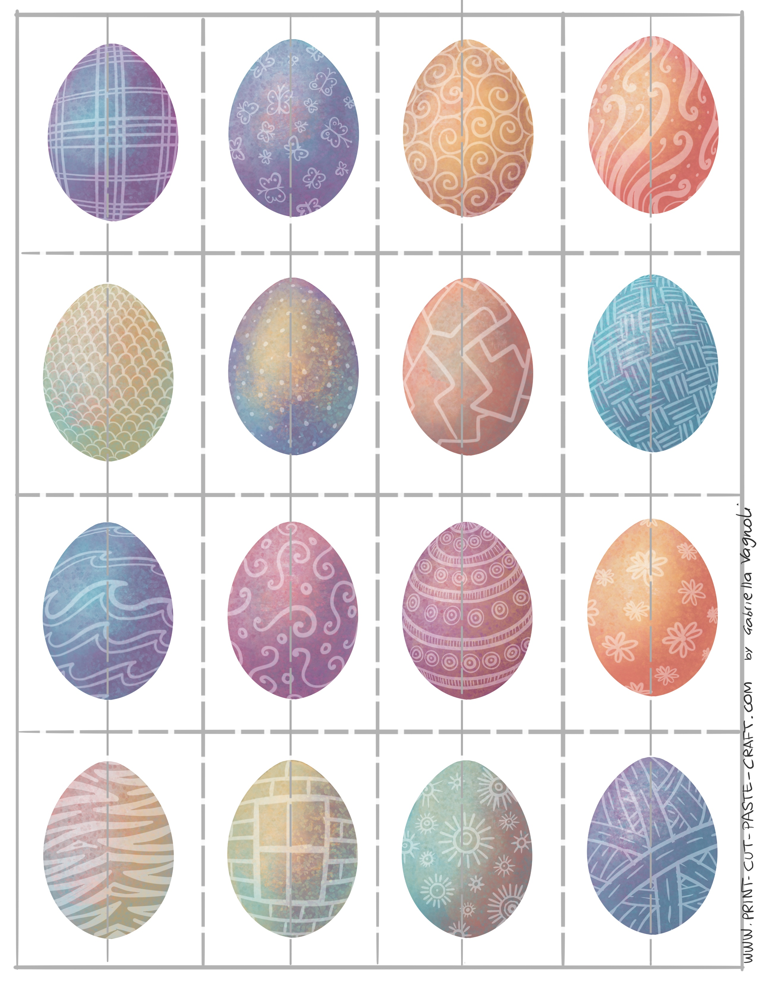Free Printable Easter Egg Matching Game