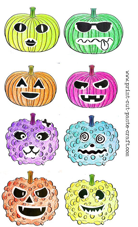 Free Printable Halloween Craft: Jack-o-Lanterns