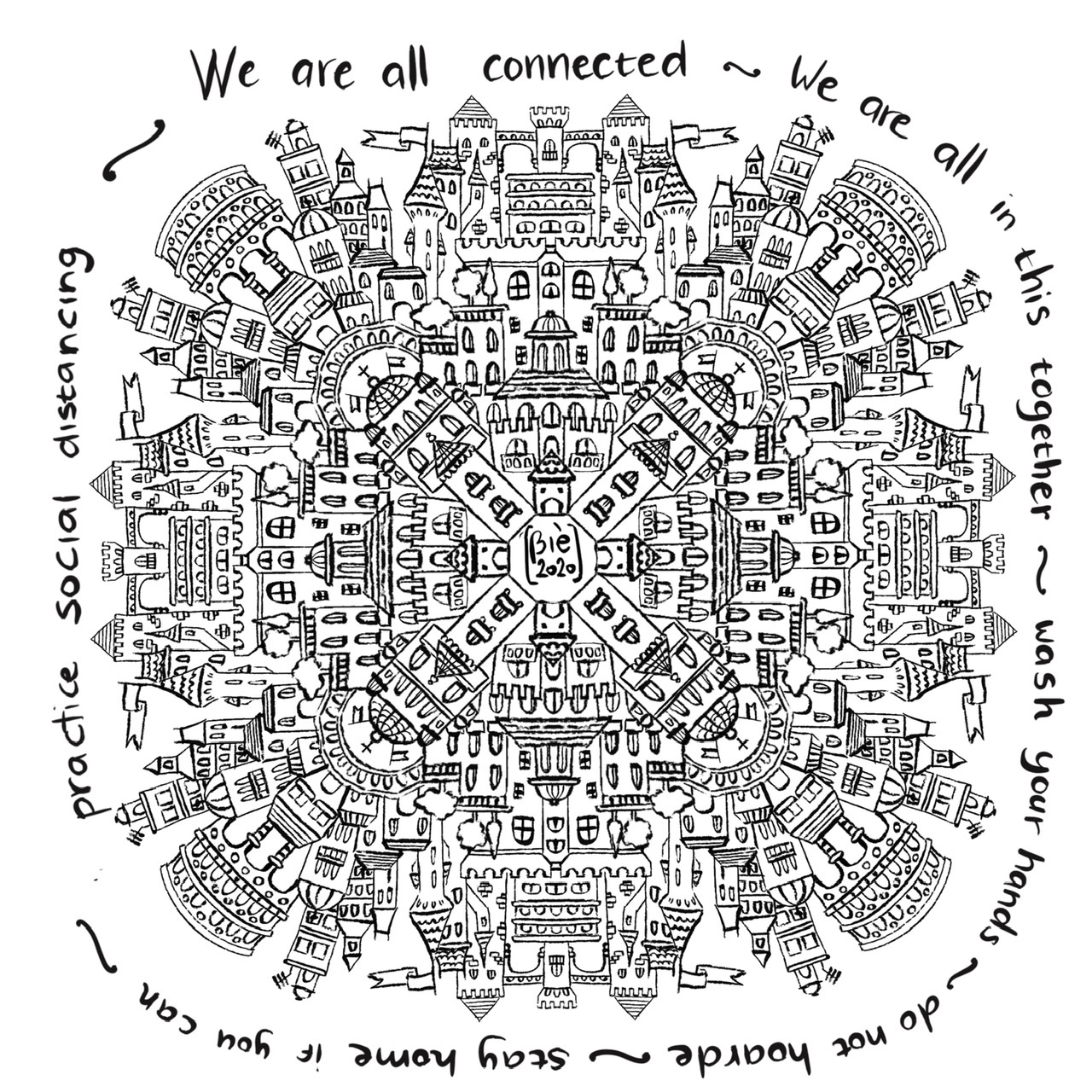Coronavirus coloring page we are all in this together