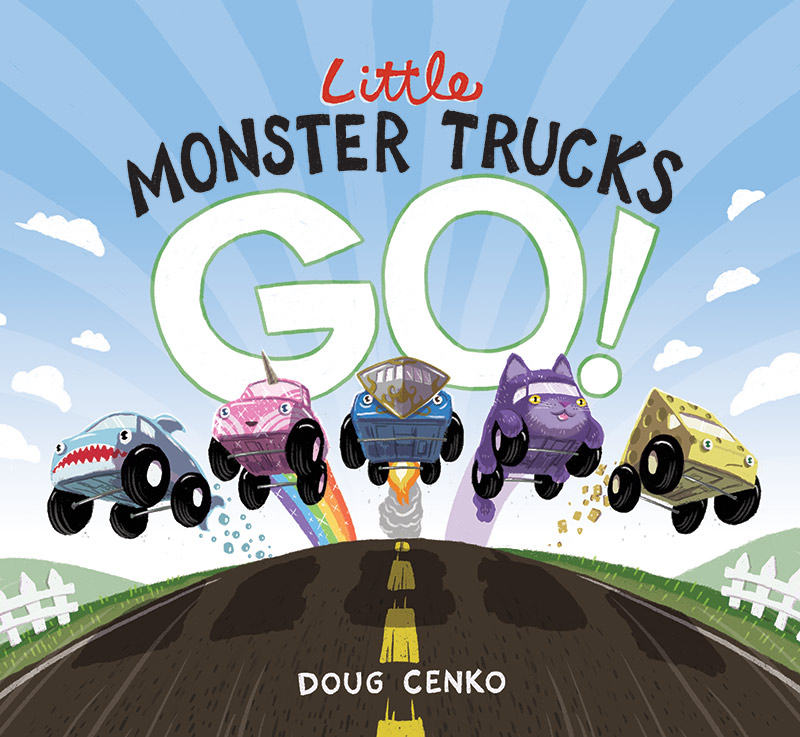 Doug Cenko Little Monster Trucks Go cover
