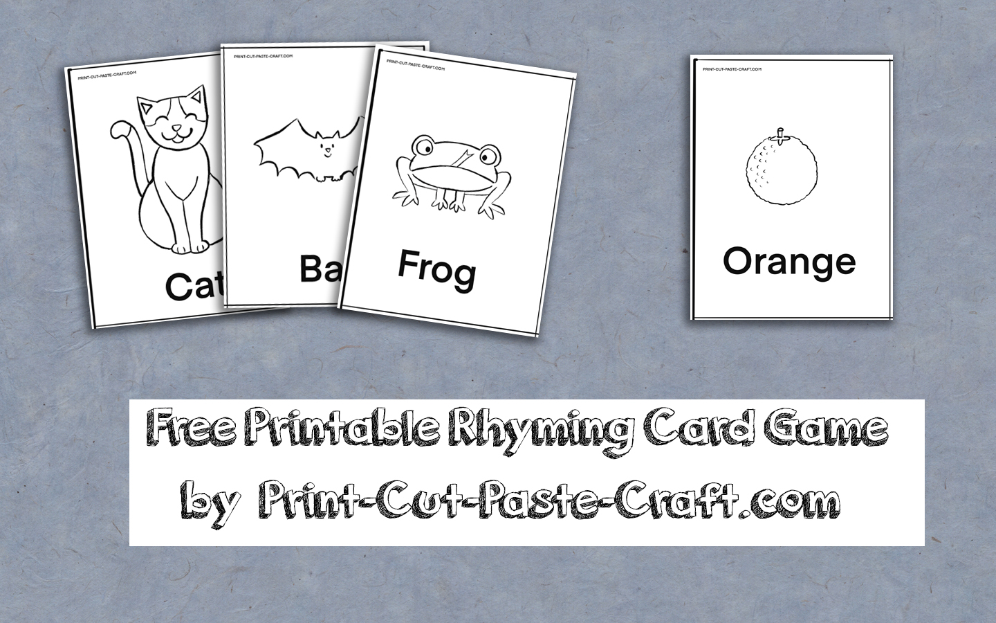 Free Printable Rhyming Card Game: Practice Basic Rhymes While Having Fun!