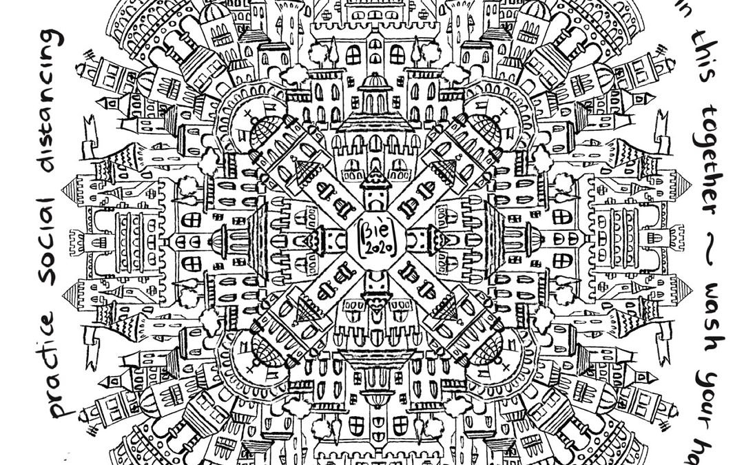 """Free coloring page """"we are all in this together"""""""