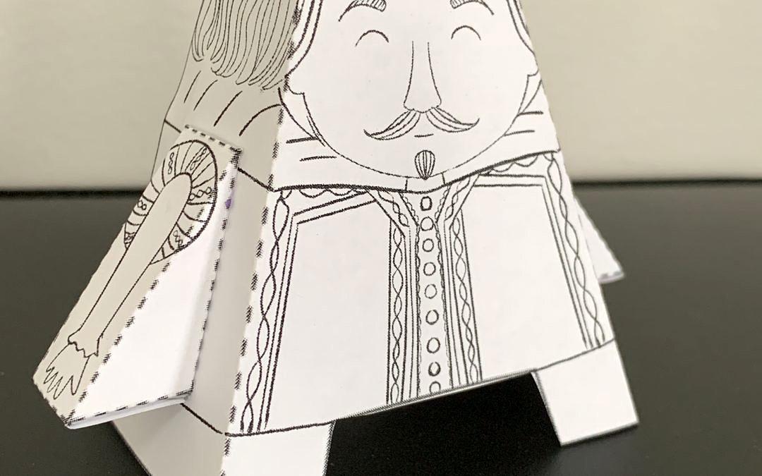 Free Printable Foldable Shakespeare Craft
